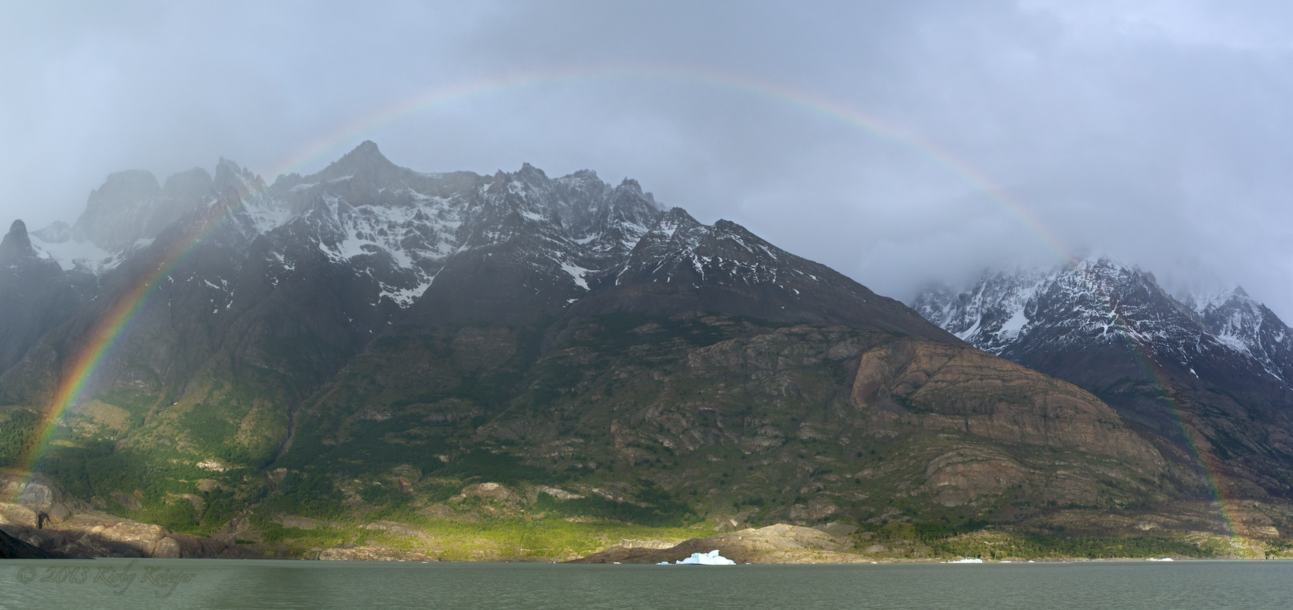 Gray Lake Rainbow Panorama