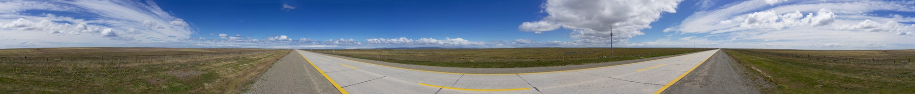 North of Punta Arenas Roadside Panorama 2
